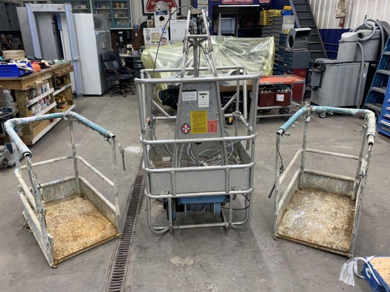 Safeworks ST-180 Spider Lift Staging Hoist Manlift Suspended Scaffolding Basket