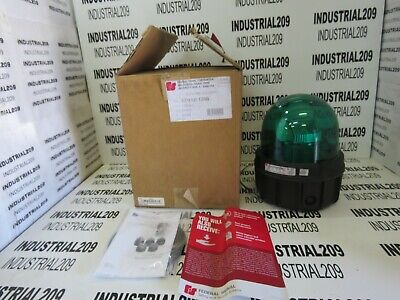 Federal Signal Rotating Led Light Green 371led-120g New In Box
