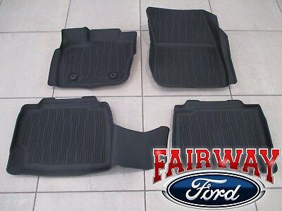 17 thru 18 Fusion OEM Genuine Ford Tray Style Molded Black Floor Mat Set 4-piece