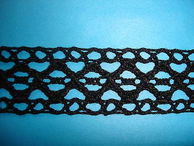 25m Klöppelspitze 0,52€/m schwarz 2,7cm breit  K40.5