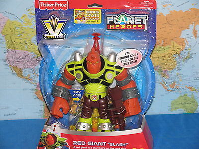 FISHER PRICE PLANET HEROES RED GIANT SLASH VOICE LIGHT ***BRAND NEW & RARE***