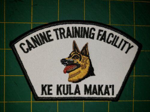STATE OF HAWAII SHERIFF POLICE PATCH CANINE TRAINING FACILITY KE KULA MAKAI K9