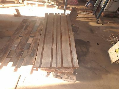 47.25 X 20 X 3.25 Steel Welding T-slotted Table Cast Iron Layout Plate4 Slot