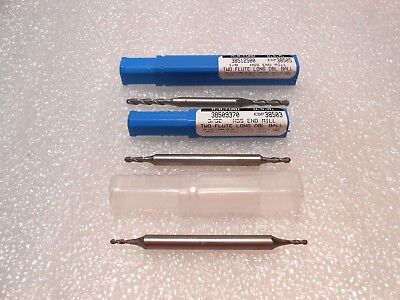 Ma Ford Double End Ball End Mills Three Sizes One Lot Price 2 Flute Usa Made