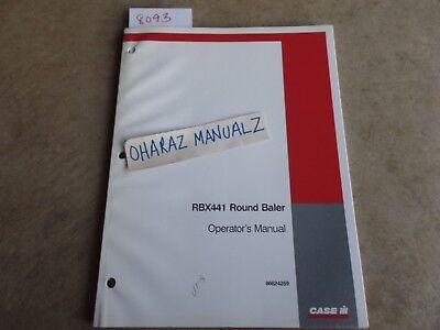 Case Rbx441 Round Baler Operators Manual 86624259