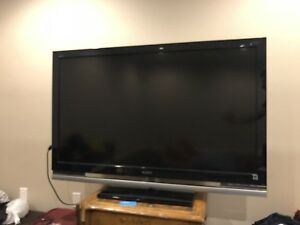 "52""  INCH  SONY TV  with hometheather"