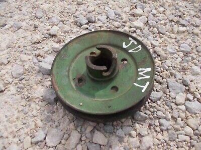 John Deere Mt Tractor Crankshaft Crank Front Drive Pulley Fr Belt Jd