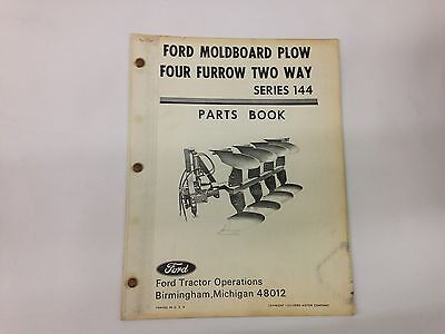 Ford Fordson Tractor Moldboard And Furrow Series 144 Two Way Plow Parts Book