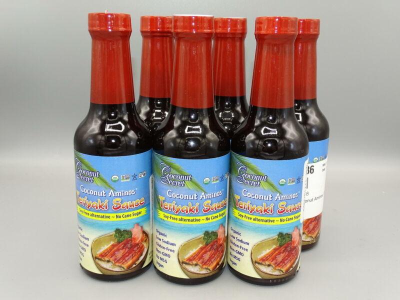 6-PACK!* Coconut Secret Coconut Aminos Teriyaki Sauce - 10 fl oz (296mL) each
