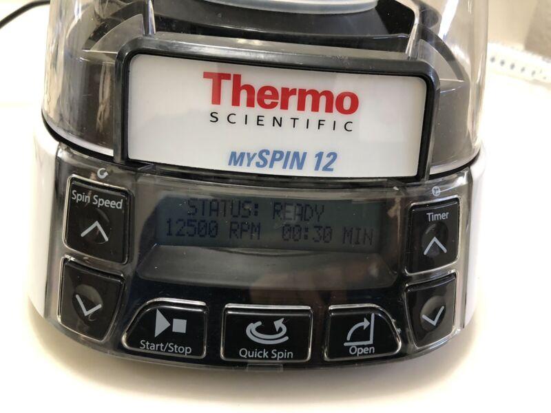 Thermo Scientific MySpin 12 Mini Centrifuge 12 PCR Rotor, 12500 RPM Adjustable
