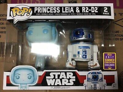 Funko Pop Star Wars Princess Leia&R2-D2 2017 SDCC Summer Convention Exclusive Ne