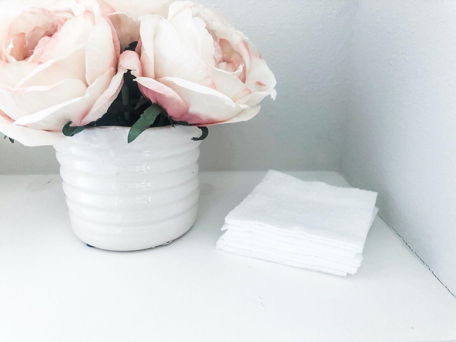 Reusable Washable Facial Body Square Large 9 Sheets - Zero W