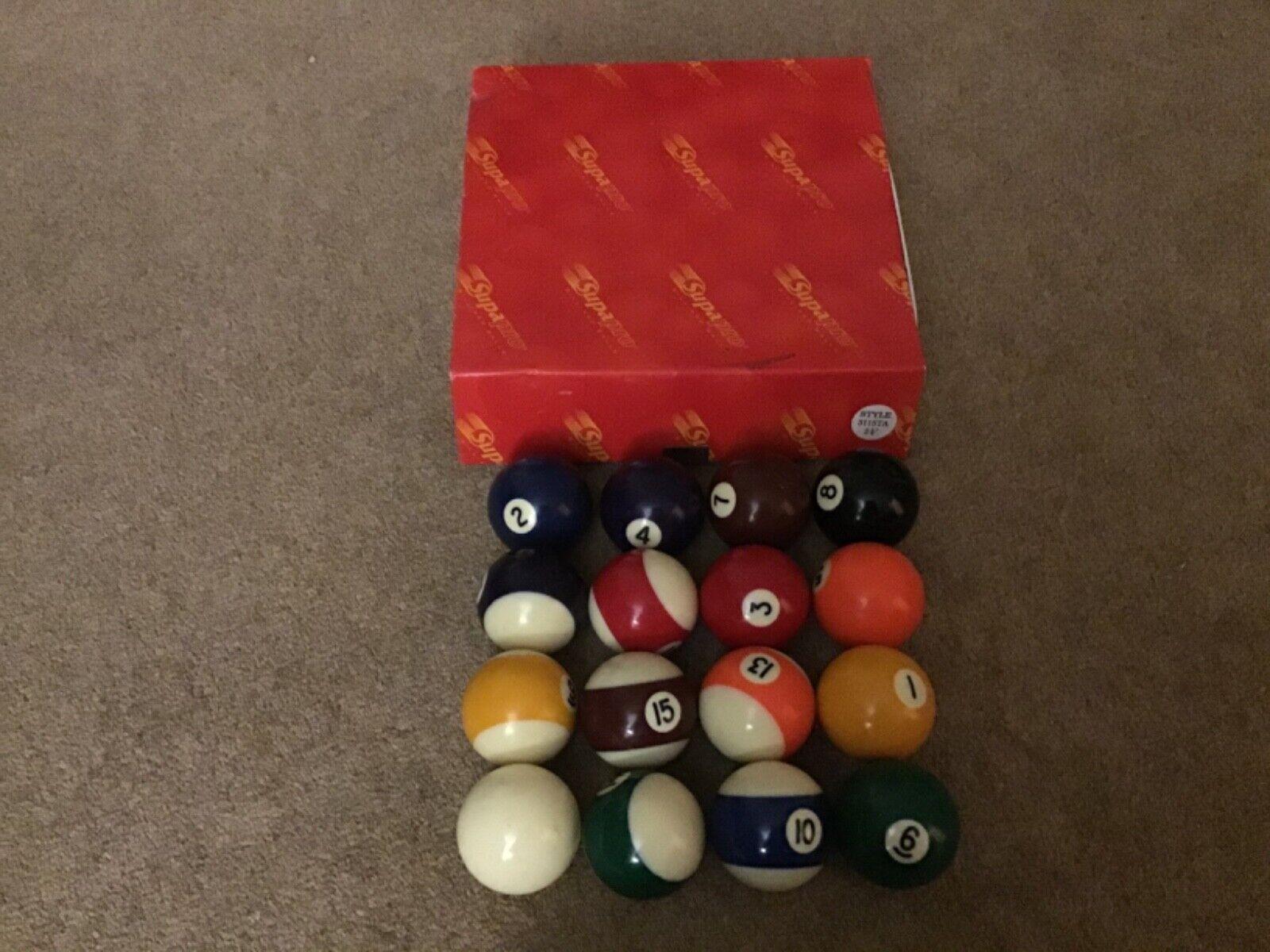 Super pro 2 1/4 pool/billiard balls