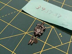 Vintage Sterling Silver 3-D Cuckoo CLOCK Charm w/Moving Pine Cone Weights