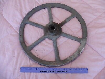 Congress Tool & Die Co 14-B Detroit Cast Brass wheel pulley machine part Vintage