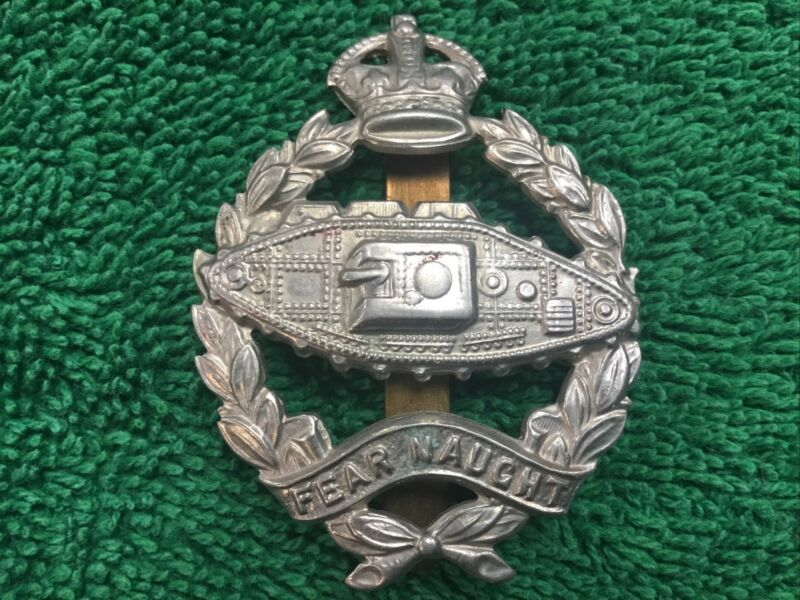 WWII British Tank Badge Fear Naught with Clip