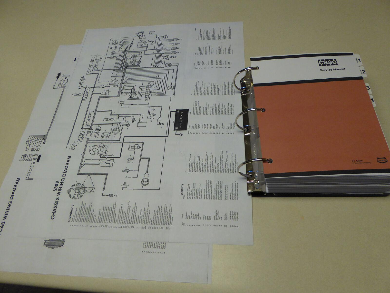 Case 580e 580se 580 Super E Loader Backhoe Service Manual Repair B Wiring Diagram Free Picture Shop New 2 Of 12