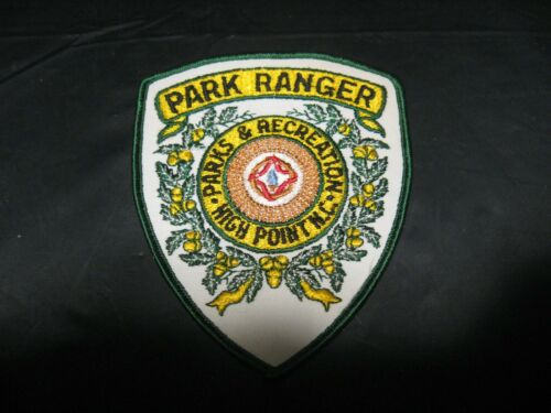 High Point NC North Carolina PARK RANGER Parks & Rec Security Police Patch RARE!