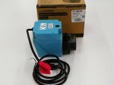 LITTLE GIANT SERIES 3 SUBMERSIBLE  OR IN-LINE PUMP # 3E-12N      E993 Line Submersible Pump