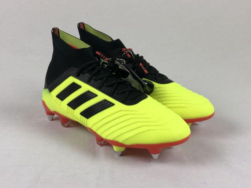 5a49ffe3f912 NEW adidas Predator 18.1 FG - Yellow Cleats (Men's Multiple Sizes ...