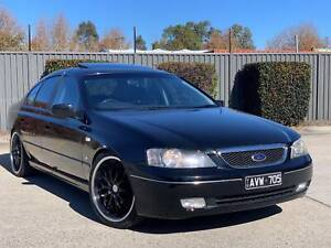 2005 FORD FAIRMONT GHIA BA MKII 5.4 V8 - BLACK - SUNROOF - EXHAUST