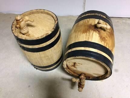 2 x 10 Litre french oak barrels