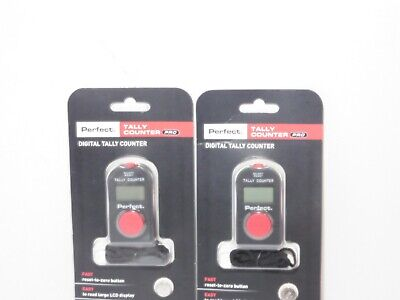 2 New Perfect Tally Counter Pro Digital Tally Counter Electronic Manual Clicker