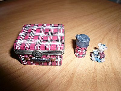 2003 BOYDS BEARS & FRIENDS LUNCHBOX TRINKET/TREASURE BOX