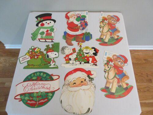 8 Vintage Ambassador Hallmark Cleo Die Cut Christmas Decoration Peanuts Santa +
