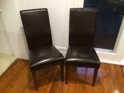 6 brown dining chairs Ashfield Ashfield Area Preview