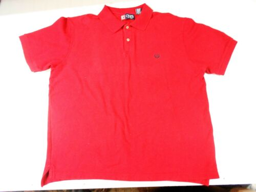CHAPS MEN'S SPORTY Short Sleeve RED POLO SHIRT NICE! 100% COTTON -SIZE XL A17