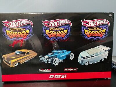 Hot Wheels 30-Car Collector Wayne's Larry's Phil's Garage Real Riders Metal NEW