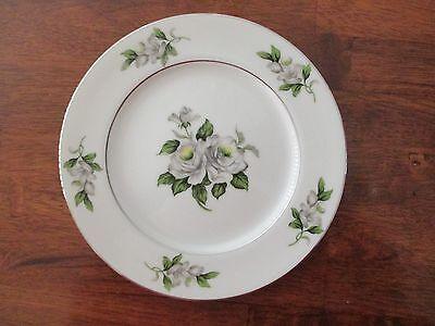 Gold Coast China White Rose Japan Salad Plate Japan China White Rose