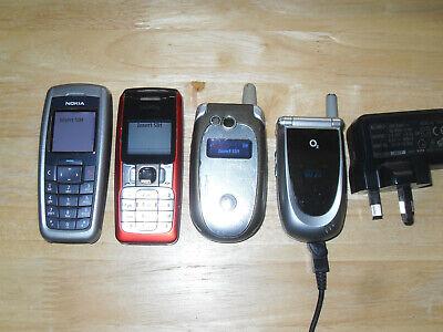 Joblot of 4 Various Old Mobile Phones All Working - Nokia, Motorola etc.