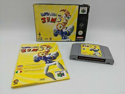 Earthworm Jim 3D - N64 / Nintendo 64 - Complete in Box - UK / PAL - Free P&P