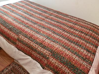 antique persian comforter 100 years + old, termeh,hand made art