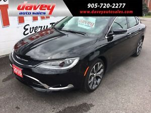 2016 Chrysler 200 C LEATHER HEATED SEATS, NAVIGATION, SUNROOF