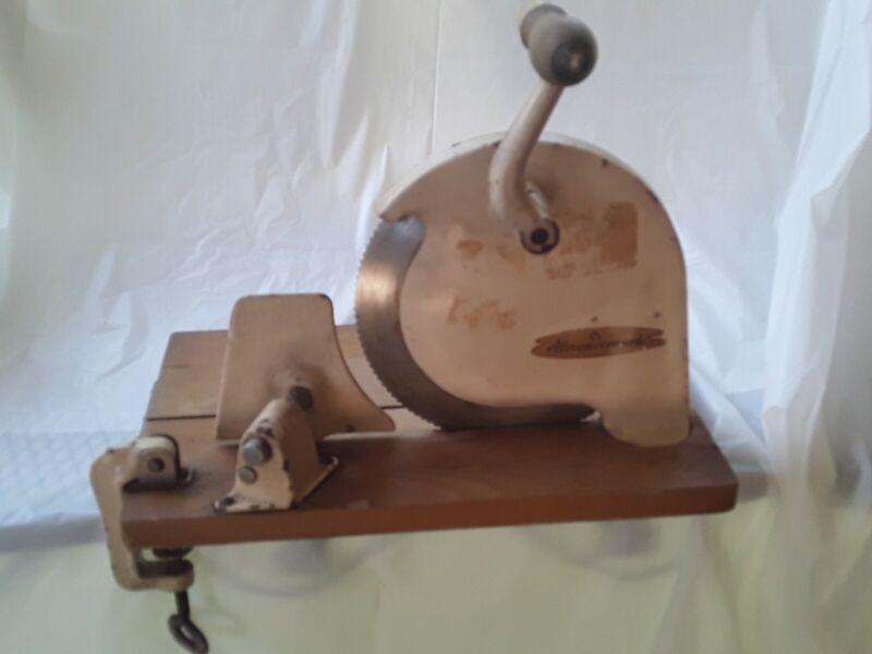 Antique ALEXANDERWERK Bread Slicer Cutter Cast-iron Machine Works Unrestored