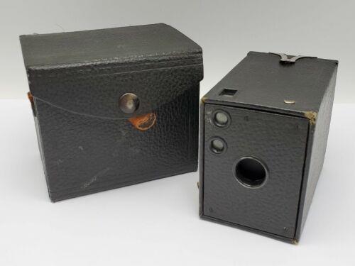 Antique Kodak Eastman No.0 Model A Brownie Box Camera w/ Original Case *READ*