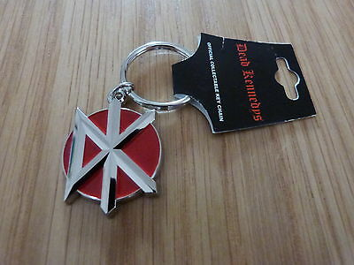 DEAD KENNEDYS - DK LOGO RED ENAMEL METAL KEYRING (NEW) OFFICIAL BAND MERCHANDISE