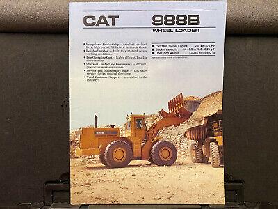 Caterpillar 988b Wheel Loader Brochurecatalog 1988