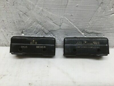 Micro Switch Bz-r Pin Plunger 15a 125 250 Or 480 Vac Lot Of 2