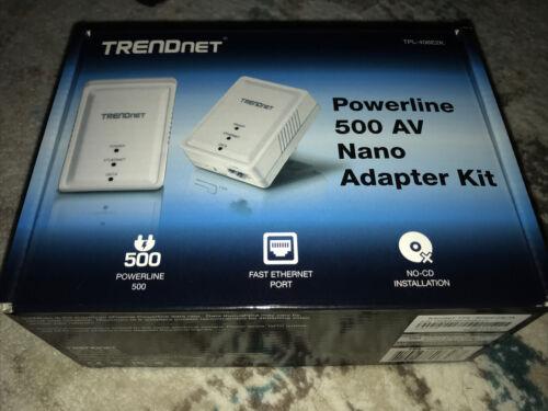 TRENDnet Powerline Ethernet 500AV Nano Adapter Kit - Open Box - TPL-406E2K/A - $21.99