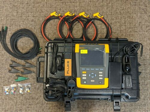 Fluke 437 Series II 3 Three Phase Power Quality & Energy Analyzer 400Hz New