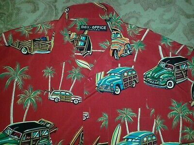 1940s Men's Shirts, Sweaters, Vests Box Office Island Mens Hawaiian Surfing Shirt Camp Beach Classic 1940's Cars $20.21 AT vintagedancer.com