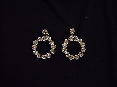 Round Clear Stone Clip on Earrings JEWELRY Woman's Fashion Accessory Dress -