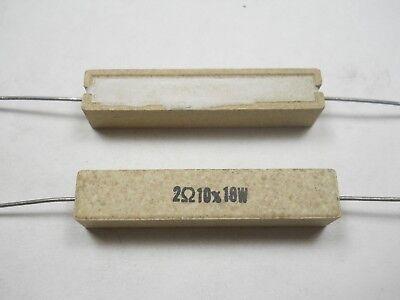 2.0 Ohm 10 Watt 10 Wire Wound Power Resistor Nos New Old Stockqty 10 Ead4