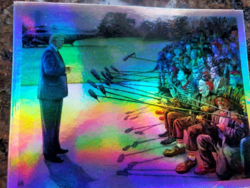 CNN Clown News Network TRUMP 2020 Clown Jim Acosta FAKE NEWS Sticker holographic
