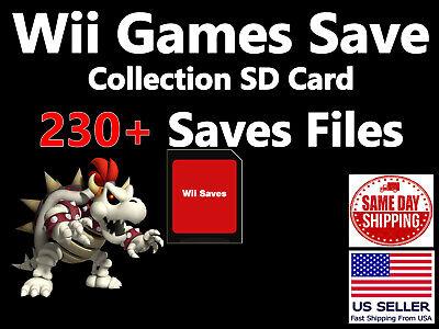 Unlocked Nintendo Wii SD Memory Card 230+ Saves Smash Mario Kart Kirby Pokemon