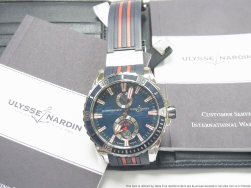 New Ulysse Nardin Maxi Marine Diver Blue Dial Automatic Watch 263-10-3-93 $8500 - watch picture 1